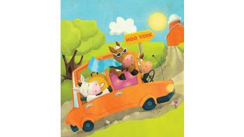 Cows in a Car